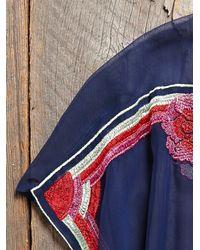 Free People - Multicolor Vintage Sheer Poncho Top - Lyst