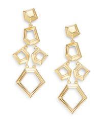 Lele Sadoughi Metallic Pinball Arcade Faceted Chip Chandelier Drop Earrings/goldtone