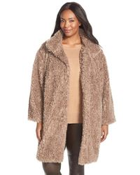 Gallery Brown 'teddy' Faux Fur Coat