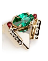 Iosselliani - Green Pyramid Crystal Ring - Lyst