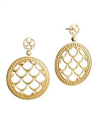 John Hardy | Metallic Naga 18K Gold Post Drop Earrings | Lyst