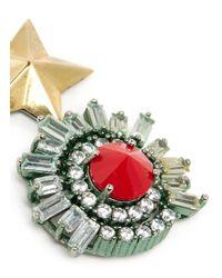 Iosselliani | Multicolor Starburst Stud Crystal Earrings | Lyst