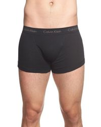 Calvin Klein | Black Cotton Trunks, (3-pack) for Men | Lyst