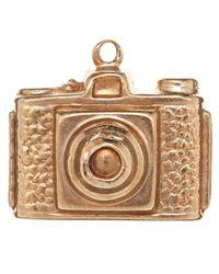 Annina Vogel - Metallic Vintage Gold Camera Charm - Lyst