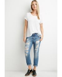 Forever 21 - White Contemporary Drapey Textured Knit Blouse You've Been Added To The Waitlist - Lyst