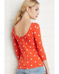 Forever 21 | Red Polka Dot Print Top You've Been Added To The Waitlist | Lyst