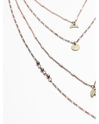 Free People | Pink Womens Waterfalls Necklace | Lyst