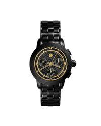 Tory Burch - Tory 37mm Black Ip Chronograph Watch - Lyst