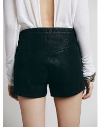 Free People - Black Hi-waisted Vegan With Zipper Detail - Lyst