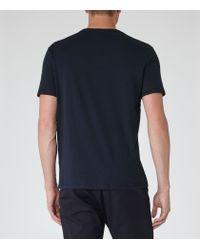 Reiss | Blue Bless Crew Neck T-shirt for Men | Lyst