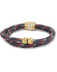 Miansai Gray Woven-Cord And Metal Wrap Bracelet for men