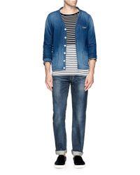 FDMTL Blue 'trace Case Study 22' Sashiko Boro Patchwork Jeans for men