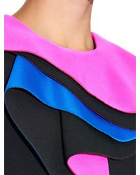 ROKSANDA Black Barlett Contrast-ruffle Cady Gown