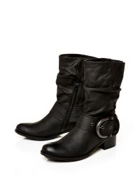 Moda In Pelle Black Dominga Low Casual Short Boots