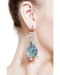 Bochic | Green Emerald and Diamond Earrings | Lyst