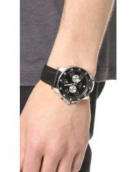 Nixon Black The Ranger Chrono Leather Watch for men