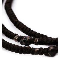M. Cohen Brown Mini Skull Wrap Necklace for men