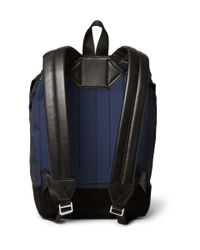 Alexander Wang - Blue Wallie Leather-Trimmed Canvas Backpack for Men - Lyst
