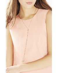 BCBGMAXAZRIA - Metallic Natural Stone Long Necklace - Lyst