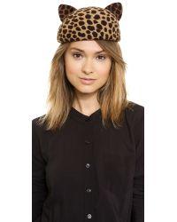 Eugenia Kim - Multicolor Caterina Hat - Leopard - Lyst