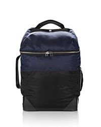 Alexander Wang - Blue Wallie Backpack Bomber In Navy Nylon With Silver for Men - Lyst