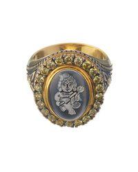 Queensbee | Metallic Krishna Ring | Lyst