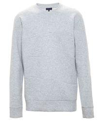 Lanvin | Gray Paneled Sweatshirt for Men | Lyst
