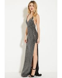 Forever 21 - Metallic Oh My Love All Shook Up Maxi Dress - Lyst