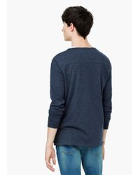 Mango | Blue Henley T-shirt for Men | Lyst