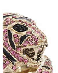 Roberto Cavalli | Metallic Gold Plated Swarovski Crystal Tiger Ring | Lyst
