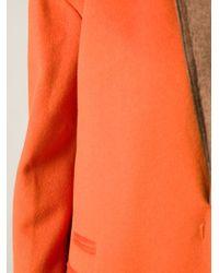Alberto Biani Orange Single Breasted Coat