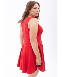 Forever 21 - Ribbed Knit Flared Dress - Lyst