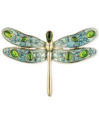 Jones New York | Green Gold-Tone Epoxy Stone And Crystal Dragonfly Pin | Lyst