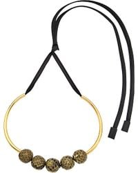 Marni - Green Leather Choker Necklace - For Women - Lyst
