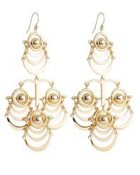 Lele Sadoughi | Metallic Orbit Chandelier Earrings, Gold | Lyst