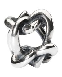 Trollbeads | Metallic Sterling Silver Heart 4 You Bead | Lyst