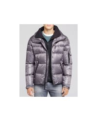 Sam. | Gray Shiny Racer Quilted Down Jacket | Lyst