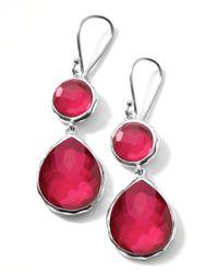 Ippolita Metallic Raspberry Doublet Teardrop Earrings
