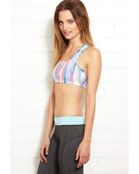 Forever 21 - Blue Medium Impact - Abstract Stripes Sports Bra - Lyst
