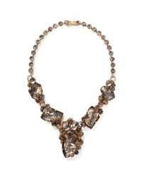 Erickson Beamon | Metallic 'temporal Schism' Glitter Crystal Necklace | Lyst