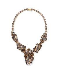 Erickson Beamon - Metallic 'temporal Schism' Glitter Crystal Necklace - Lyst