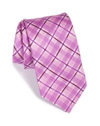 Ted Baker | Purple 'tonal Twill Plaid' Silk Tie for Men | Lyst
