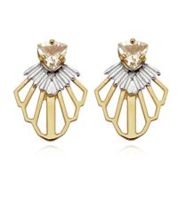 Anna Byers - Metallic Tailfeather Earrings - Lyst