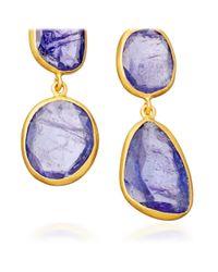 Pippa Small | Purple Tanzanite Double Collette Earrings | Lyst