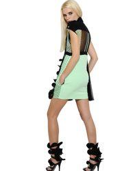 Emanuel Ungaro | Green Layered Silk Chiffon Dress | Lyst
