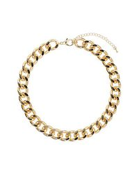 TOPSHOP Metallic Thick Chunky Chain Collar