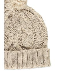 Forever 21 | Brown Cable Knit Pom Beanie | Lyst