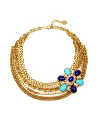 Ben-Amun | Blue Flower Chain Necklace | Lyst