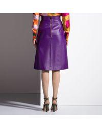 Bally Purple A-line Skirt