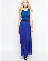 Wal-G Blue Maxi Dress With Waist Band